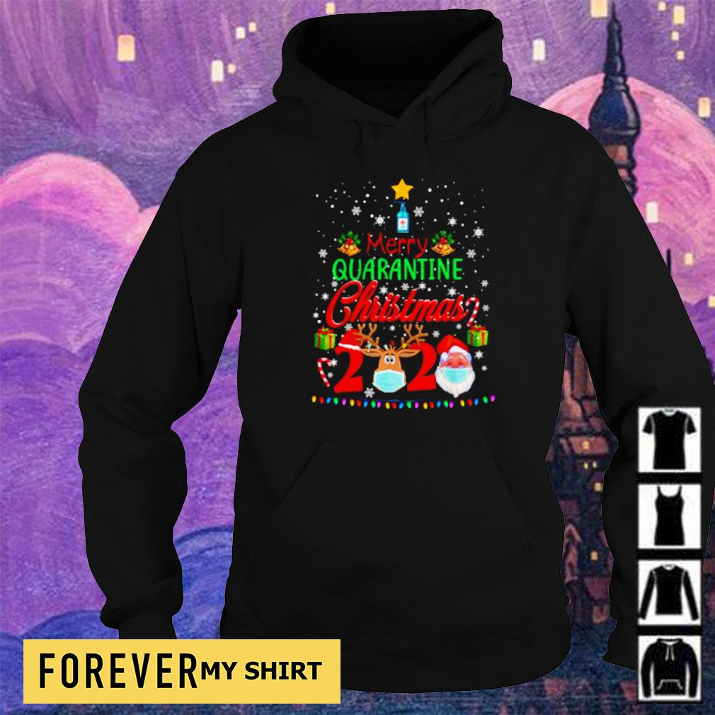 Merry quarantine Christmas 2020 sweater hoodie