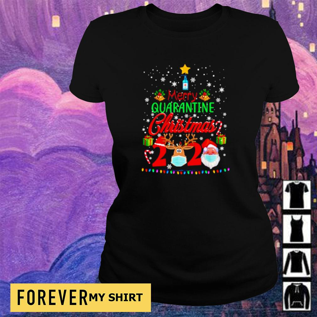 Merry quarantine Christmas 2020 sweater ladies tee