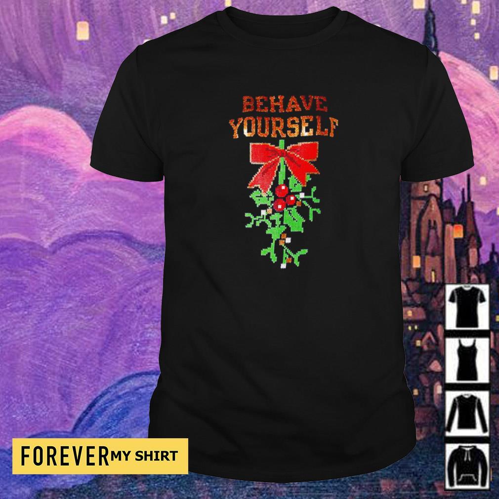 Mistletoe behave yourself merry Christmas sweater shirt