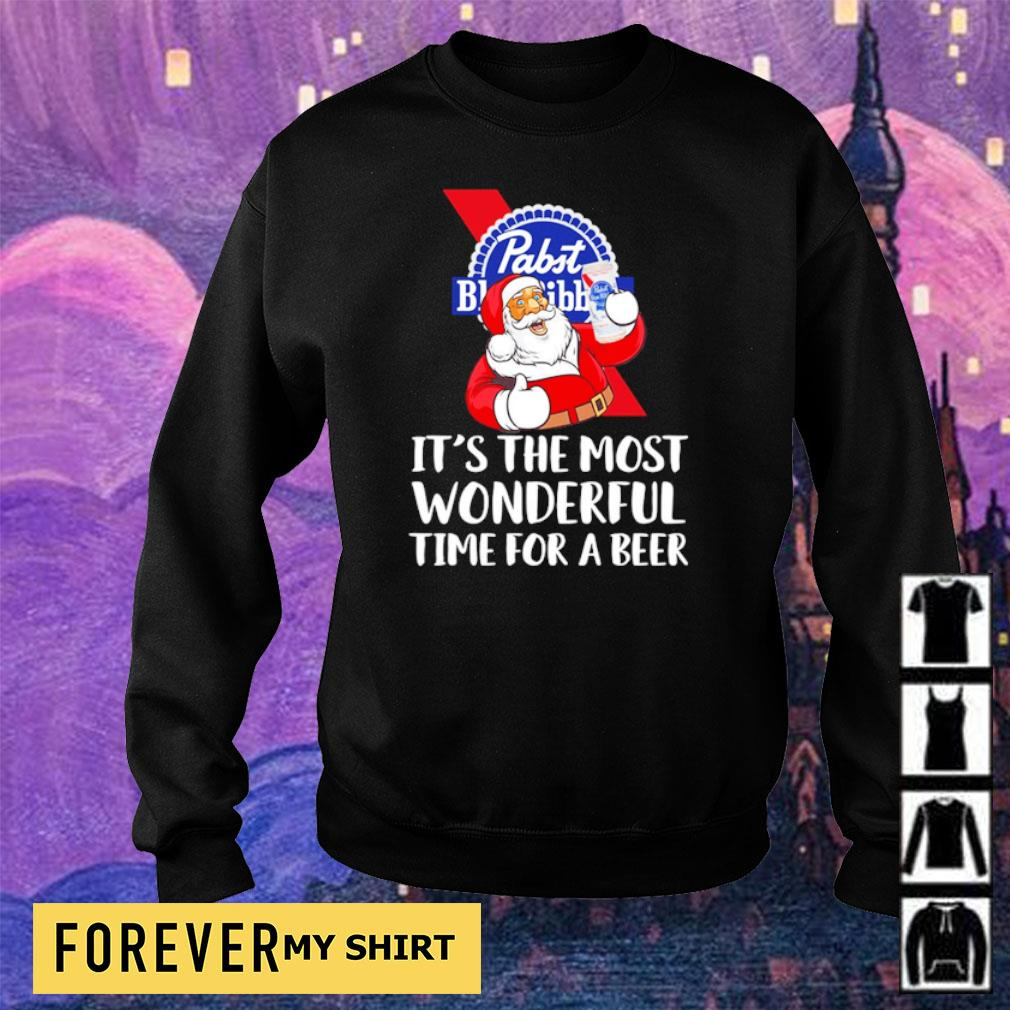 Pabst Blue Ribbon it's the most wonderful time for a beer s sweater