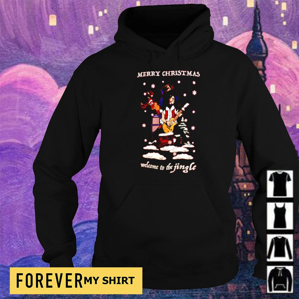 Slash merry Christmas welcome to the jingle sweater hoodie
