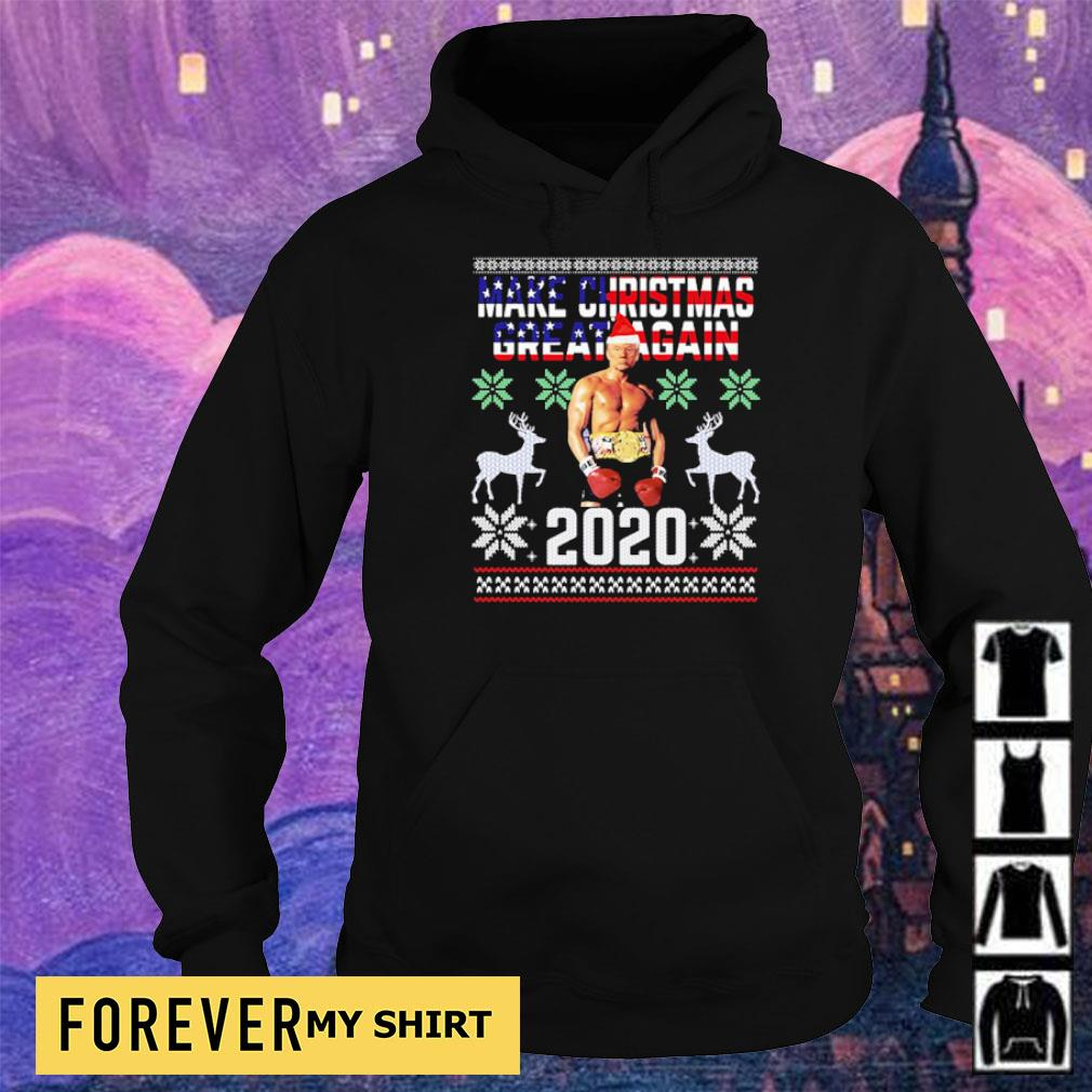 Trump boxing champion make Christmas great again 2020 sweater hoodie
