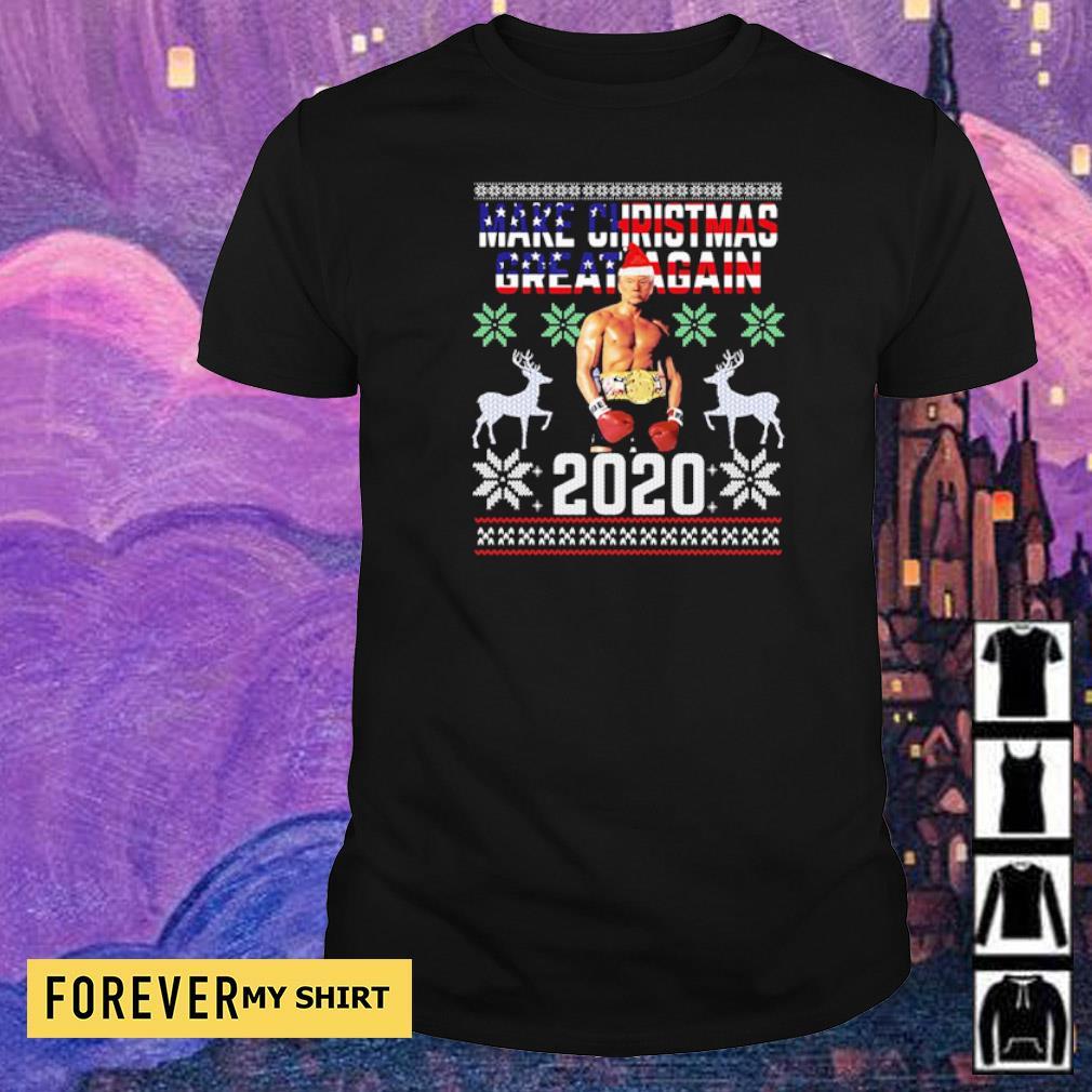 Trump boxing champion make Christmas great again 2020 sweater shirt