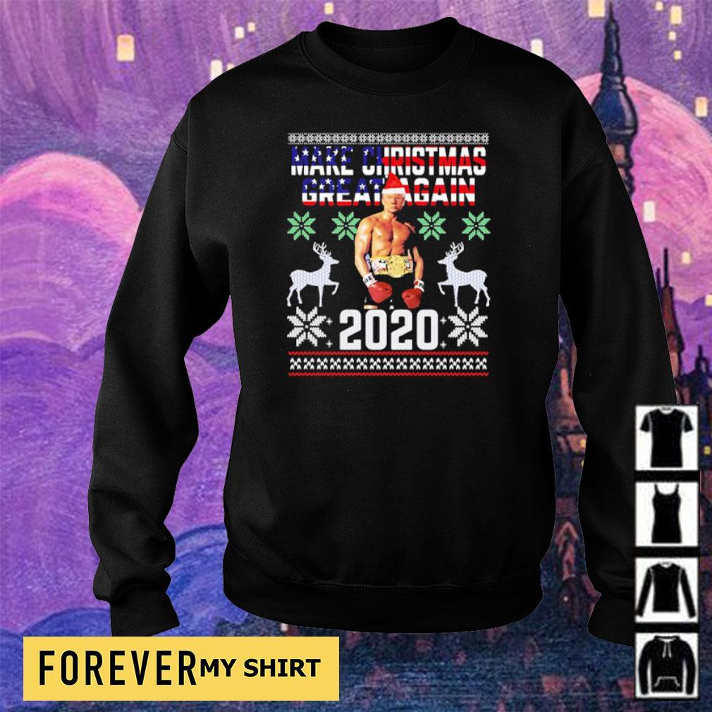 Trump boxing champion make Christmas great again 2020 sweater