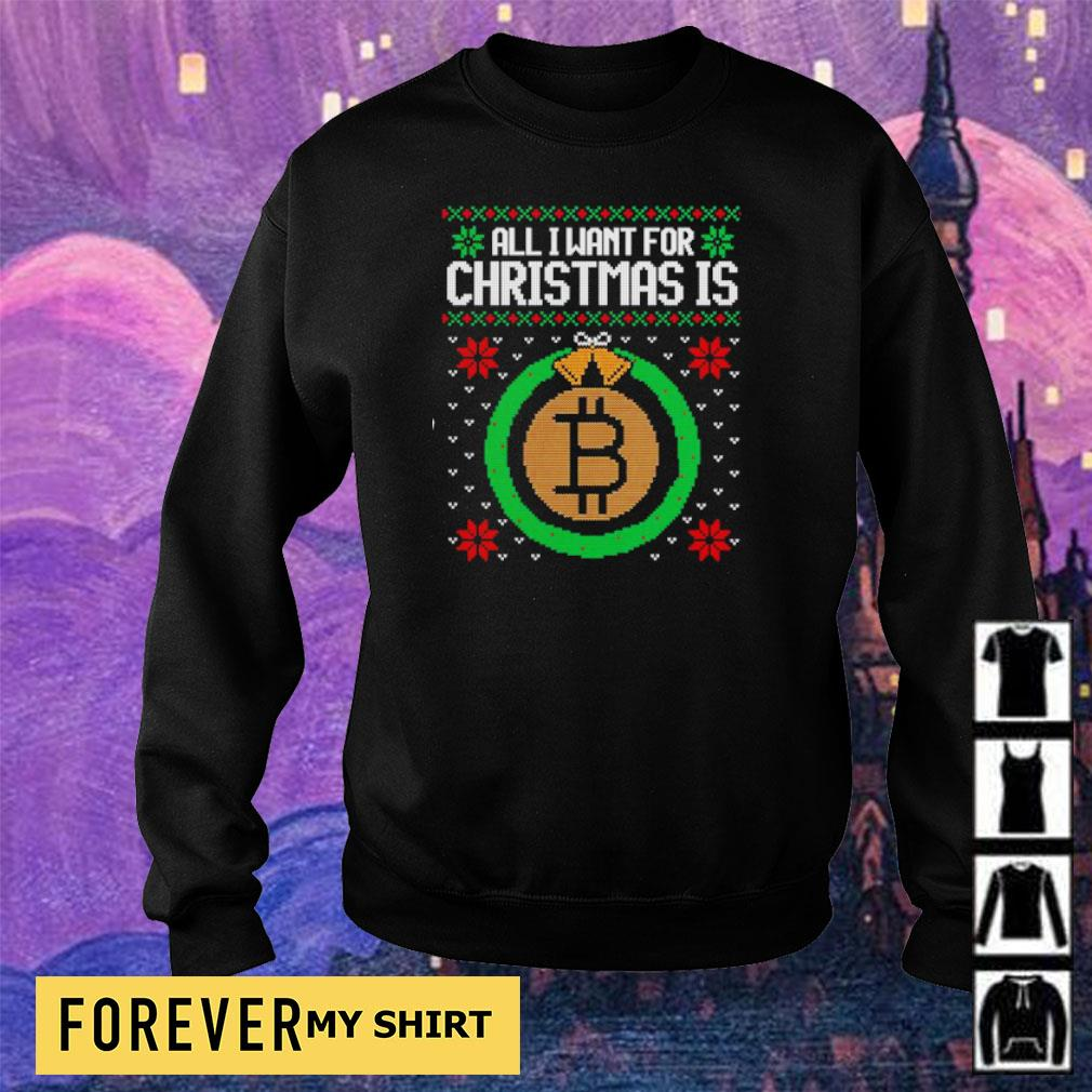 All I want for Christmas is bitcon sweater