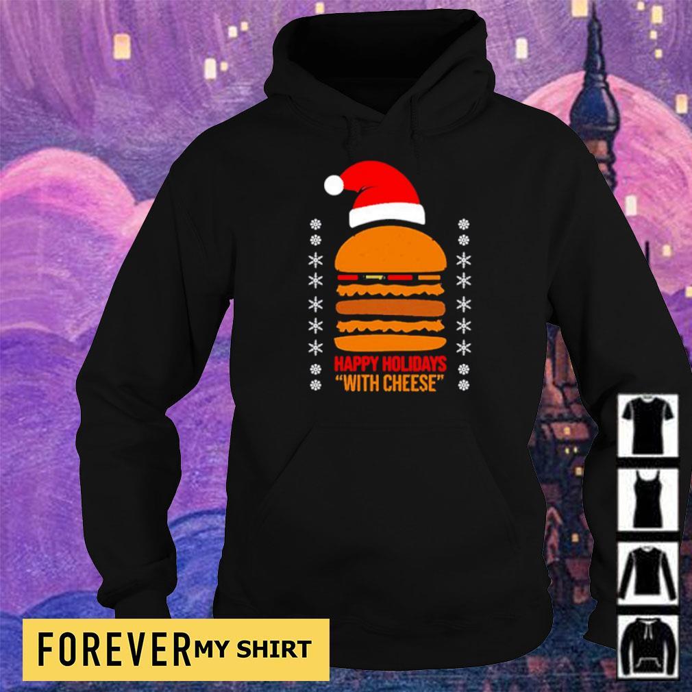 Samuel Jackson happy holidays with cheese Christmas sweater hoodie