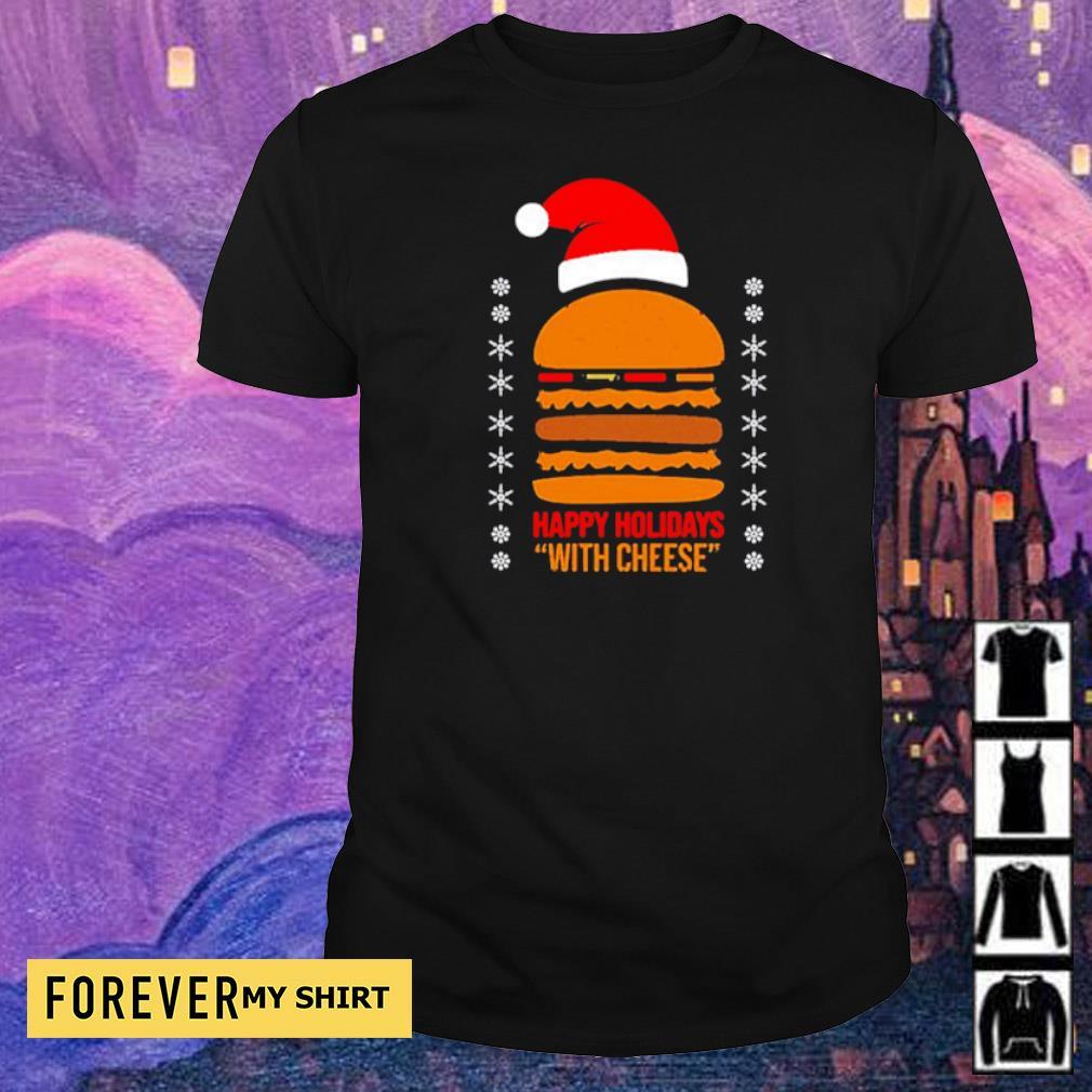 Samuel Jackson happy holidays with cheese Christmas sweater shirt
