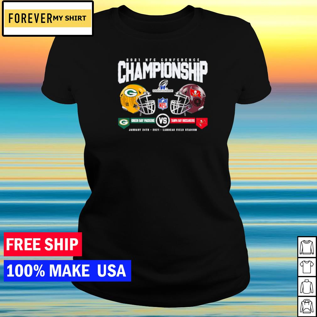 2021 NFC Conference Championship Green Bay Packers vs Tampa Bay Buccaneers s ladies tee