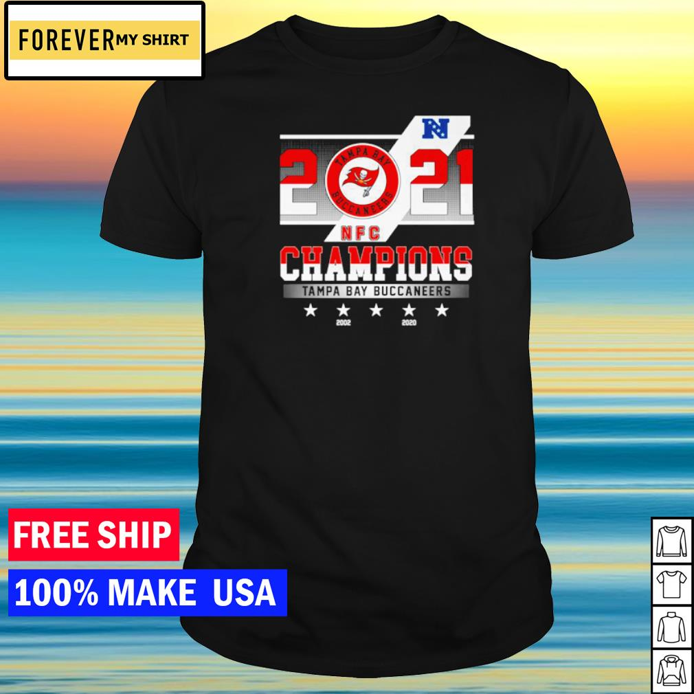 2021 Tampa Bay Buccaneers Champions 2002 and 2020 shirt