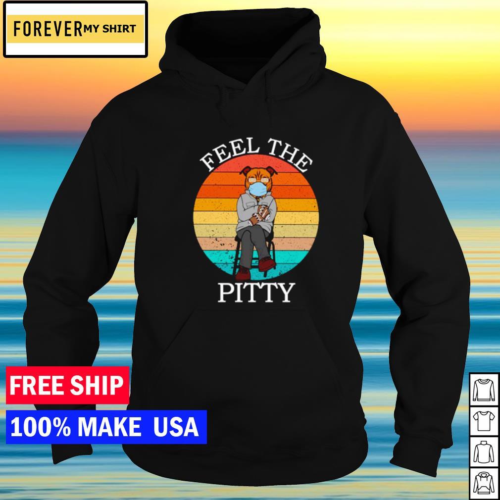 Bernie Sanders Pitbull fell the pitty vintage s hoodie