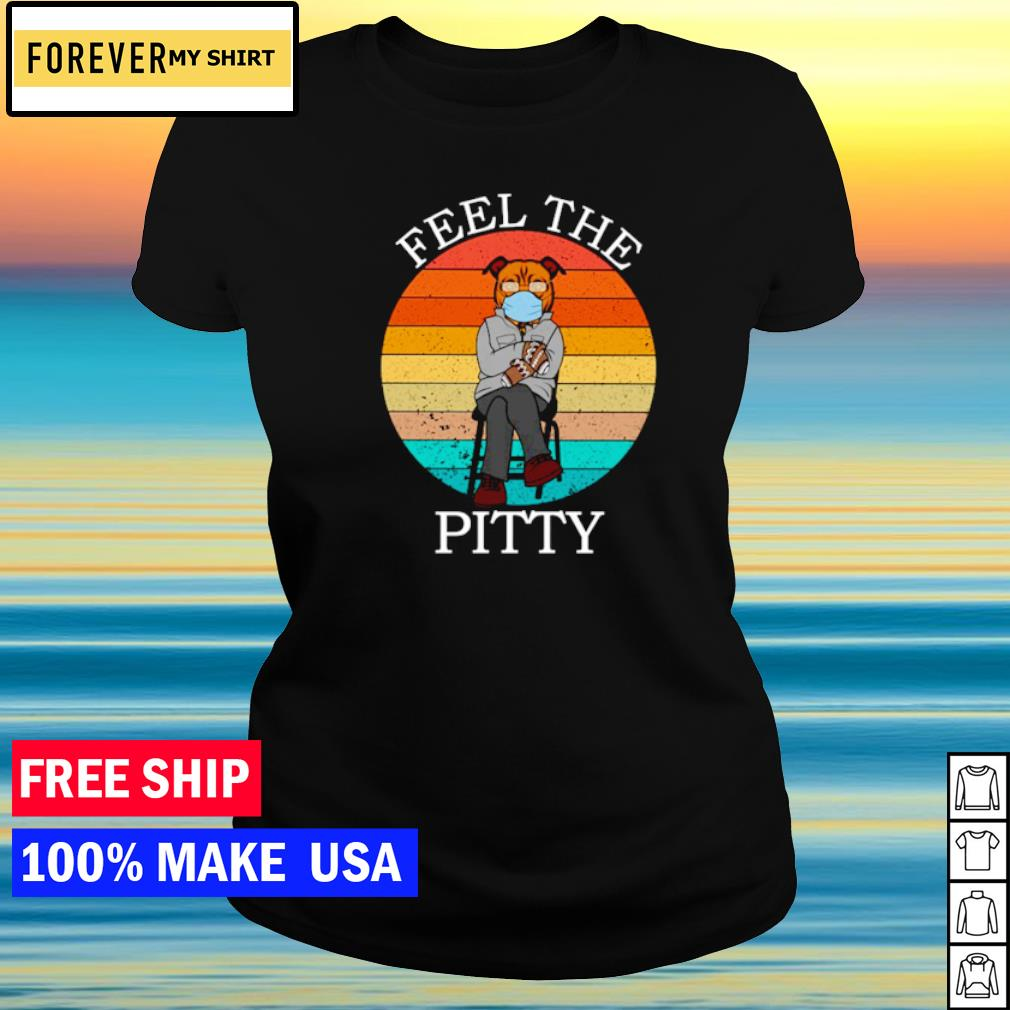 Bernie Sanders Pitbull fell the pitty vintage s ladies tee