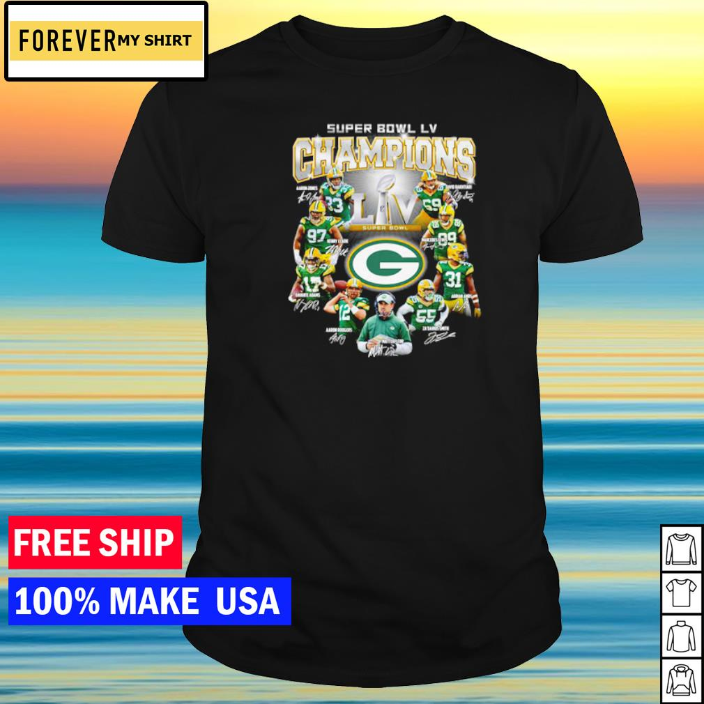 Green Bay Packers Super Bowl LV NFL player's signature shirt