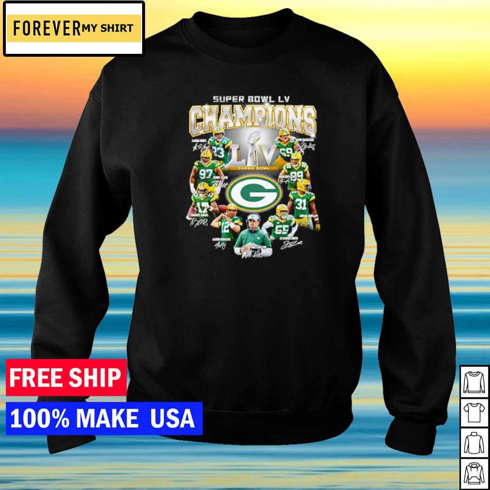 Green Bay Packers Super Bowl LV NFL player's signature s sweater
