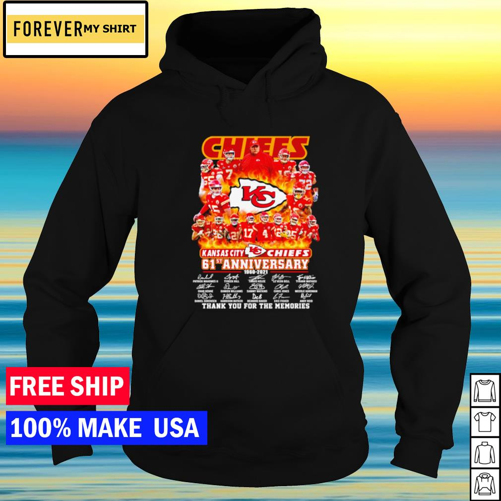 Kansas City Chiefs 61st anniversary thank you for the memories s hoodie