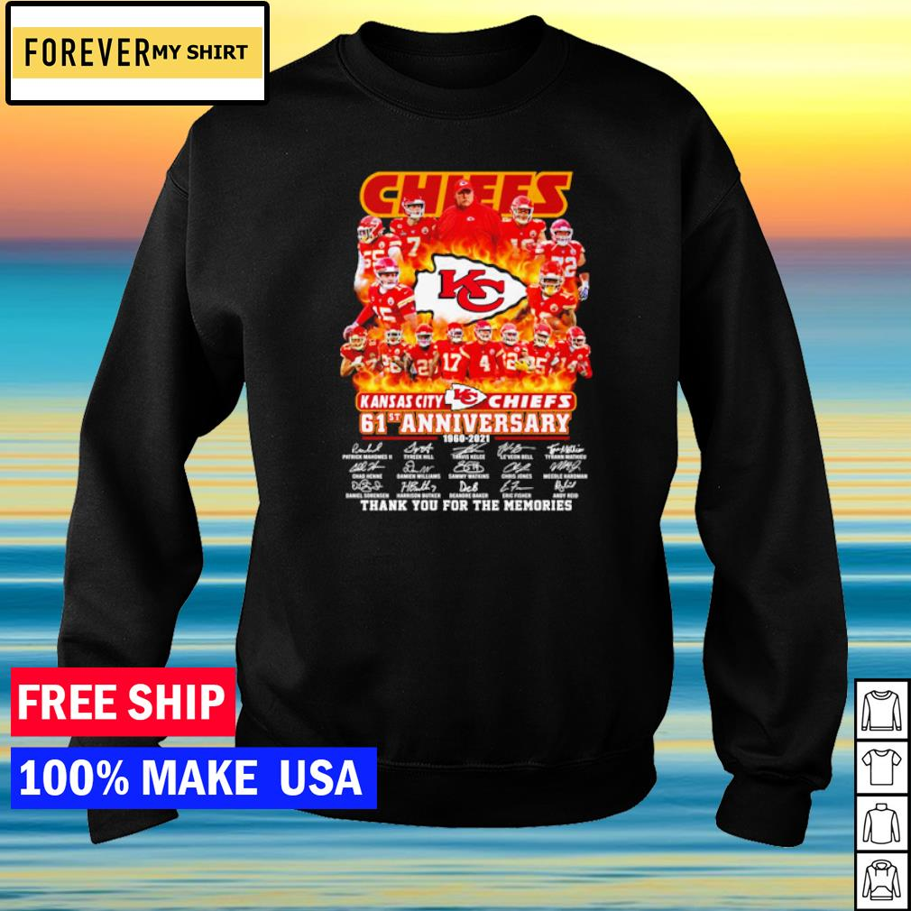 Kansas City Chiefs 61st anniversary thank you for the memories s sweater