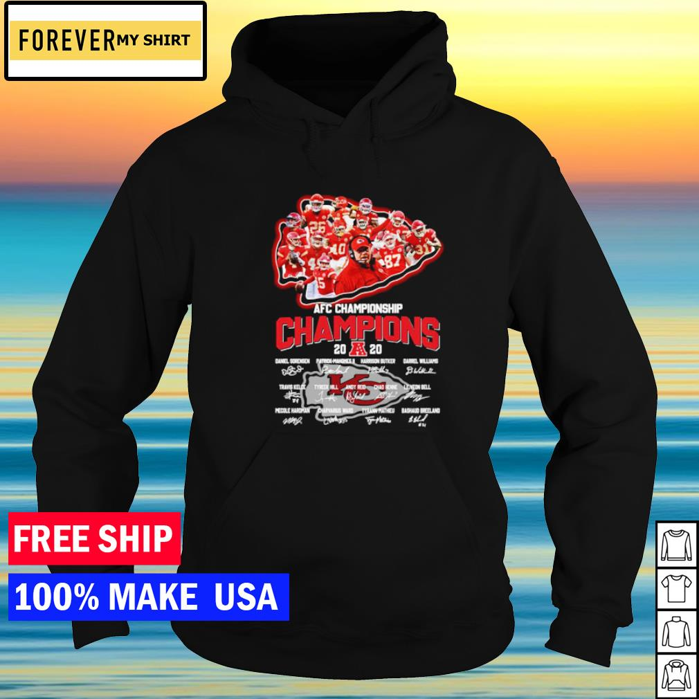 Kansas City Chiefs AFC Championship Champions 2020 signature s hoodie