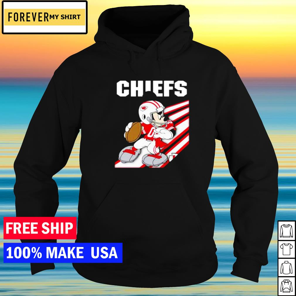 Kansas City Chiefs Mickey Mouse play football s hoodie