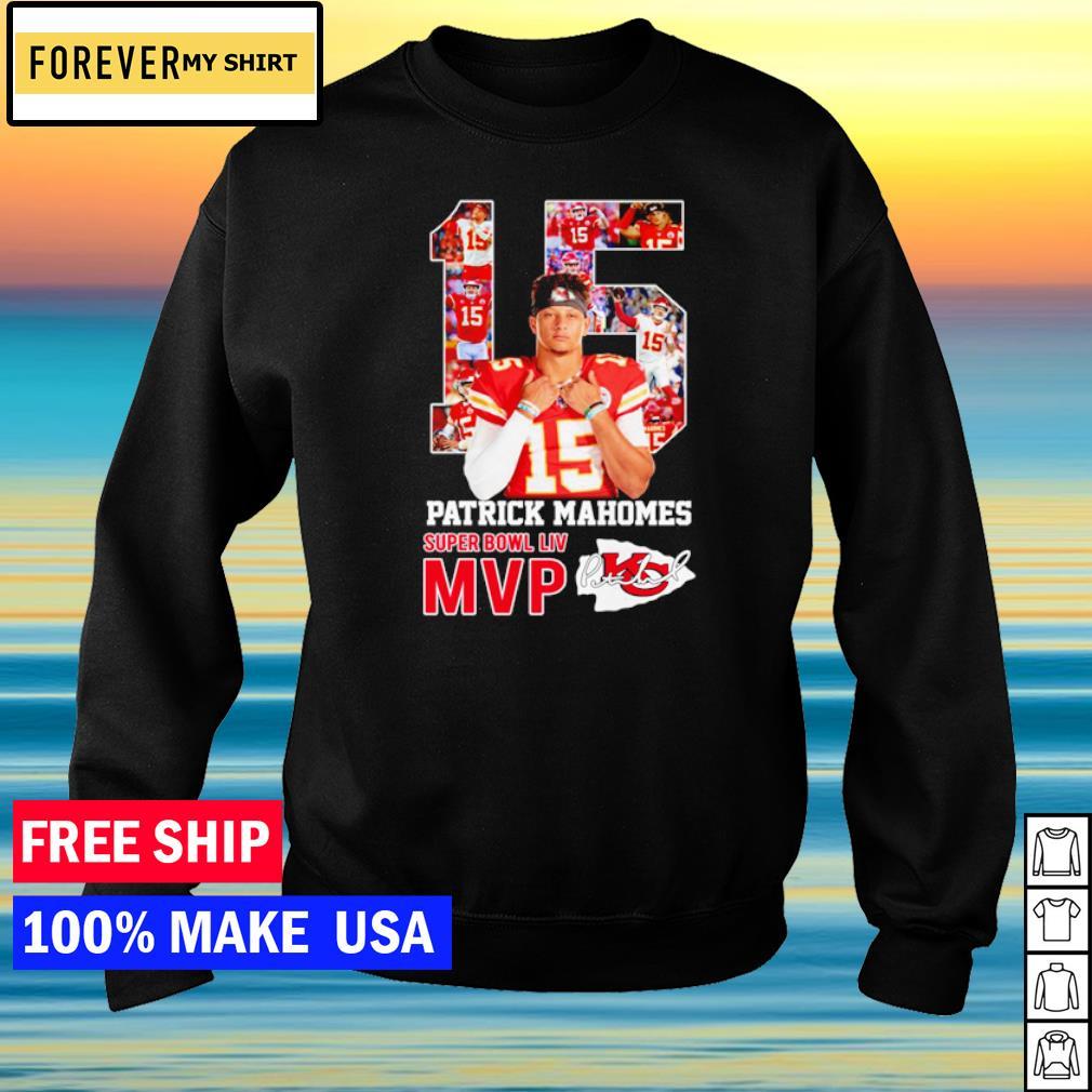 Kansas City Chiefs Patrick Mahomes number 15 Super Bowl LIV MVP signature s sweater