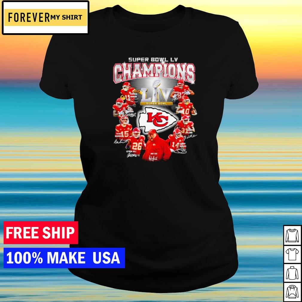 Kansas City Chiefs Super Bowl LV Champions s ladies tee