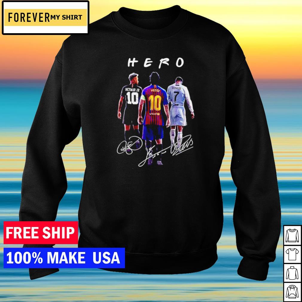 Neymar Jr Messi and Ronaldo Hero signature s sweater