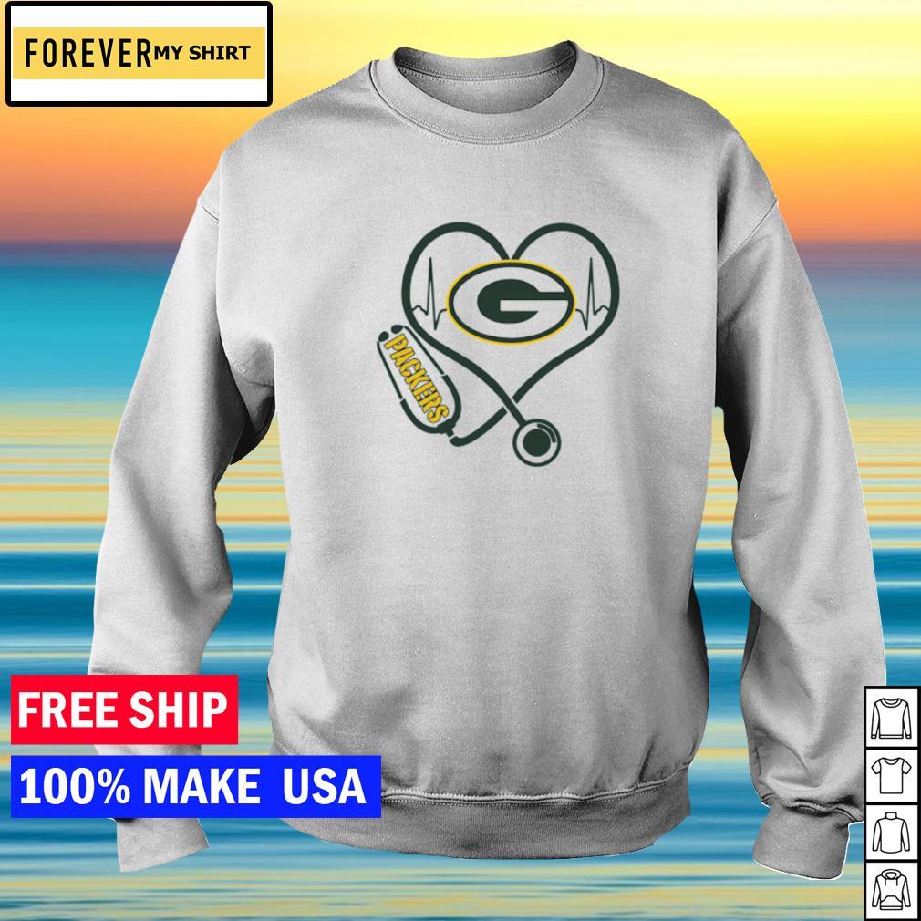 Nurse love Green Bay Packers heartbeat s sweater