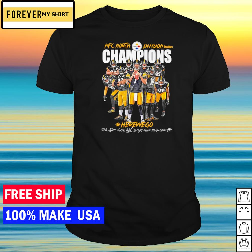 Pittsburgh Steelers herewego AFC North Division Champions signature shirt