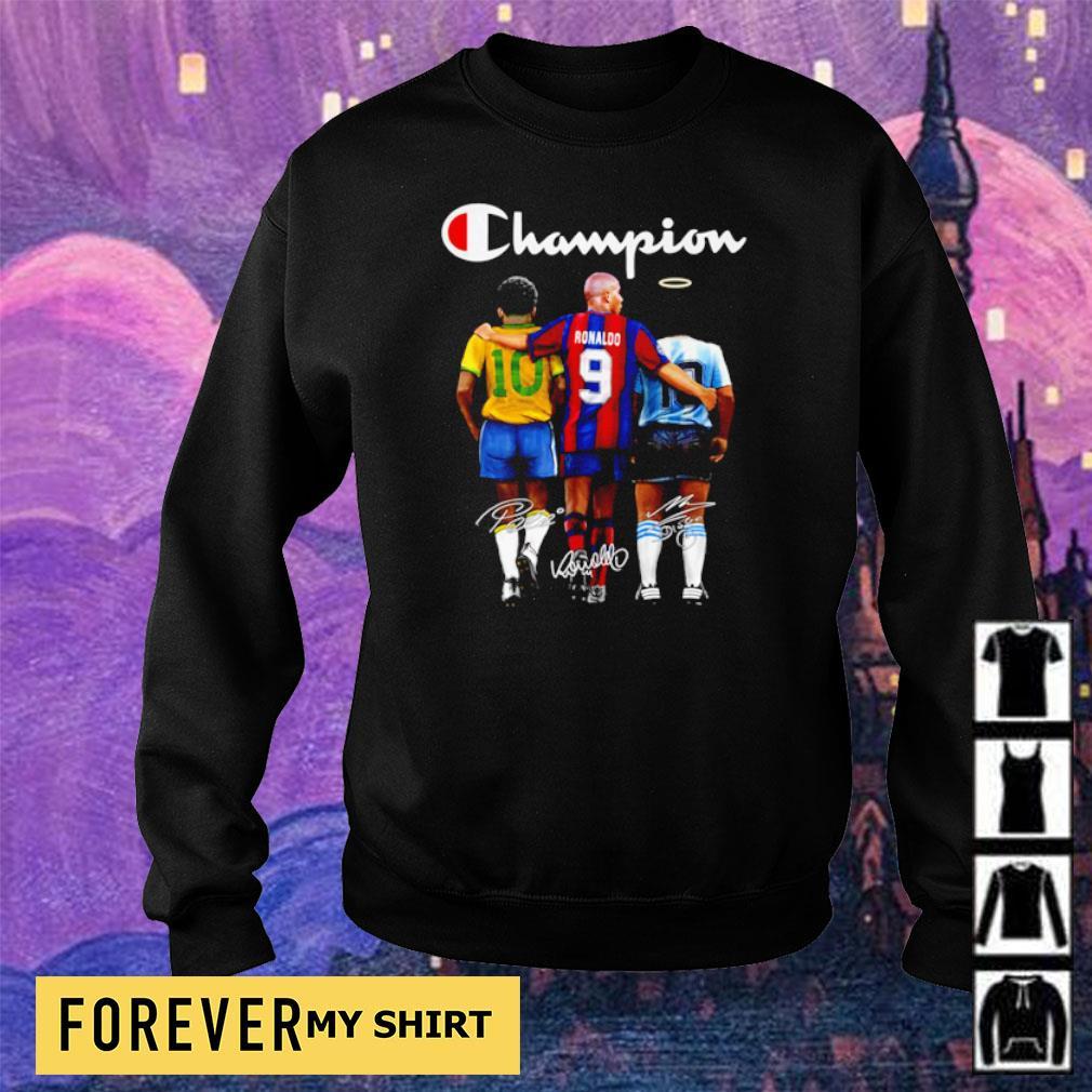 Ronaldo Pele and Diego Maradona champion signature s sweater