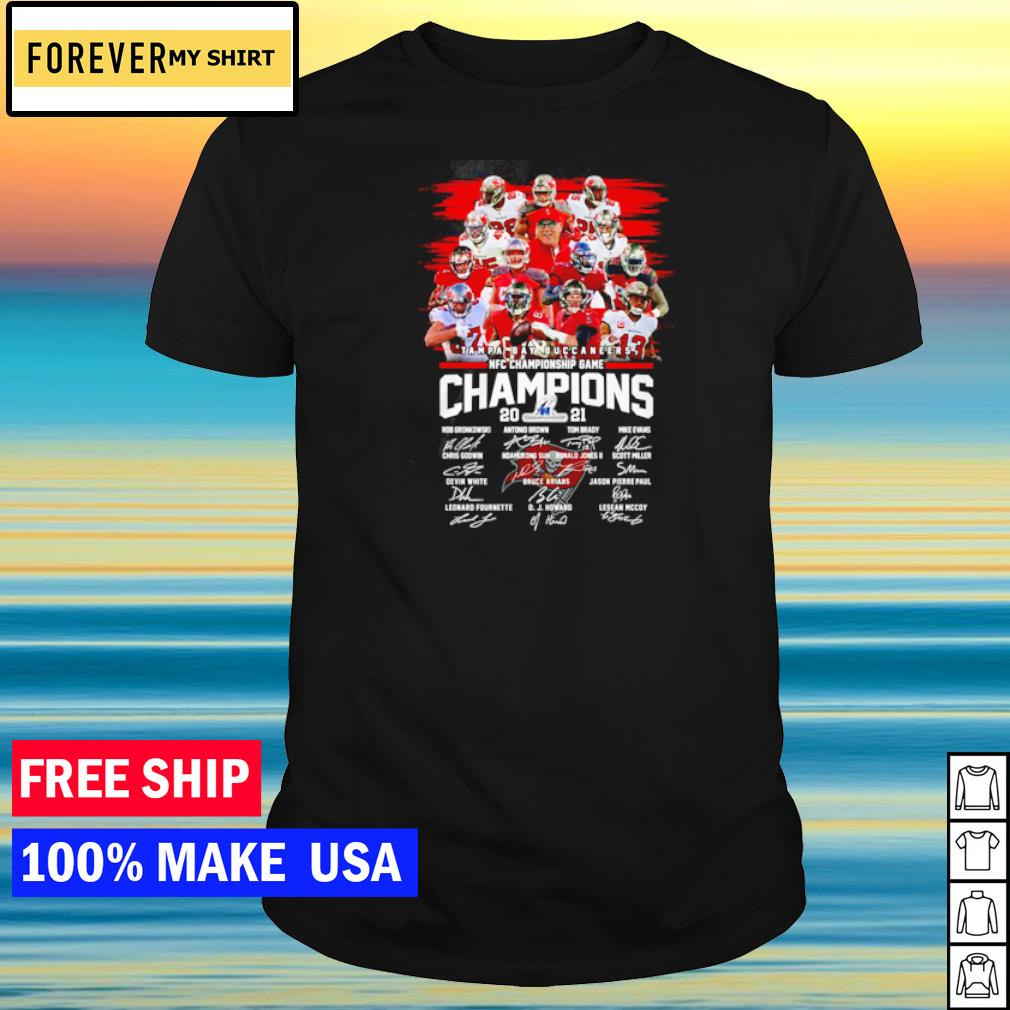 Tampa Bay Buccaneers NFC Championship Game 2021 signature shirt