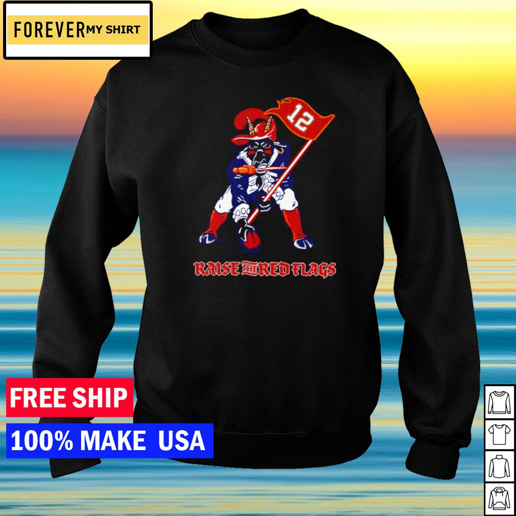 Tampa Bay Buccanneers mascot raise the red flags s sweater