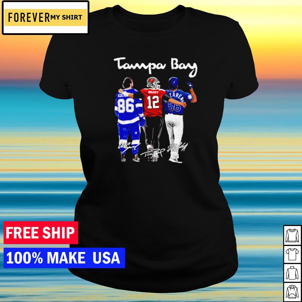 Tampa Bay Kucherov Brady and Arozarena signature champion s ladies tee