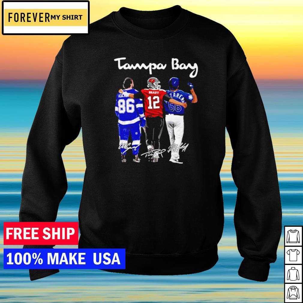 Tampa Bay Kucherov Brady and Arozarena signature champion s sweater