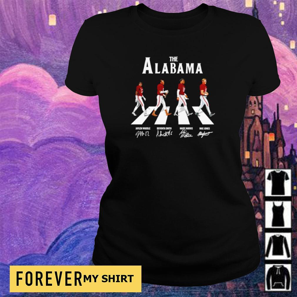 The Alabama Abbey Road Jaylen Devonta Najee and Mac signature s ladies tee