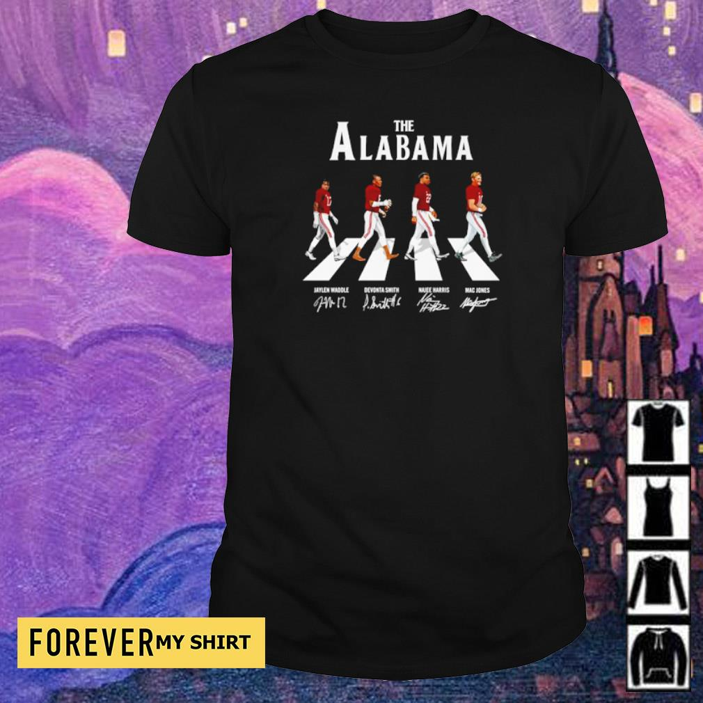 The Alabama Abbey Road Jaylen Devonta Najee and Mac signature shirt