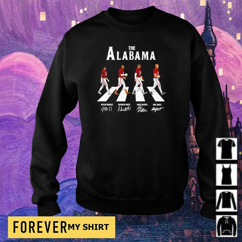 The Alabama Abbey Road Jaylen Devonta Najee and Mac signature s sweater