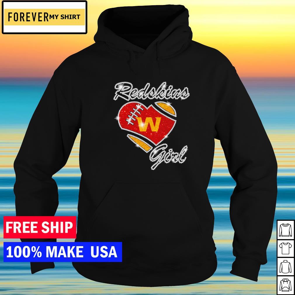 Washington Football girl diamond heart love s hoodie