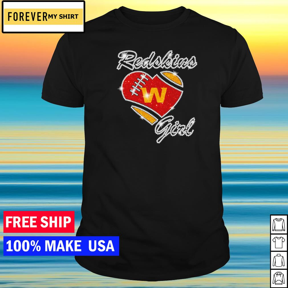 Washington Football girl diamond heart love shirt