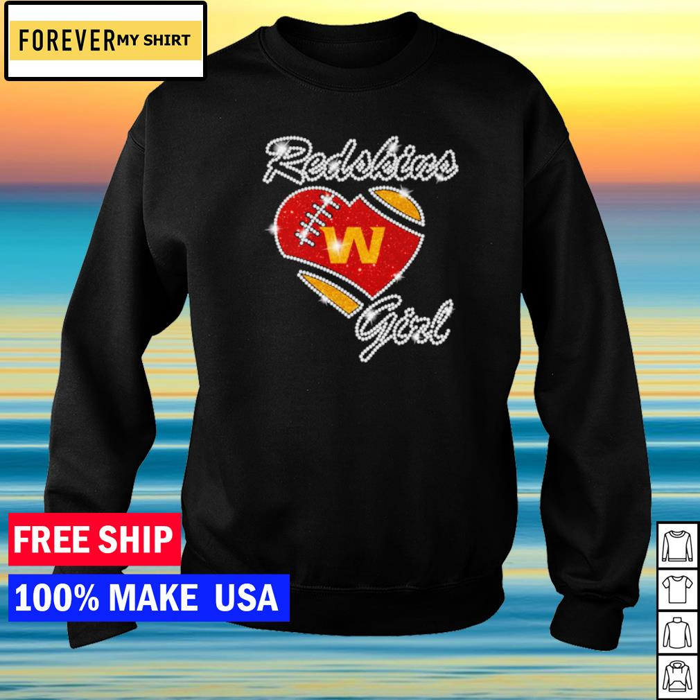 Washington Football girl diamond heart love s sweater